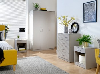 GFW Panama 4 Piece Bedroom Set In Grey