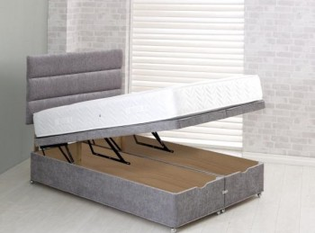 Vogue 4ft Small Double End Lift Ottoman Bed Base (Choice Of Colours)