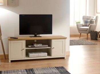 GFW Lancaster Large TV Cabinet in Cream