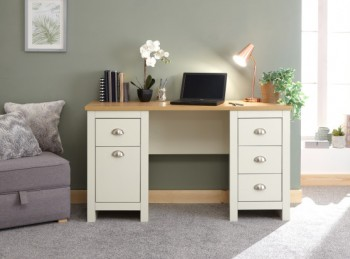 GFW Lancaster Study Desk / Dressing Table in Cream