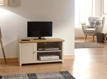 GFW Lancaster Small TV Cabinet in Cream