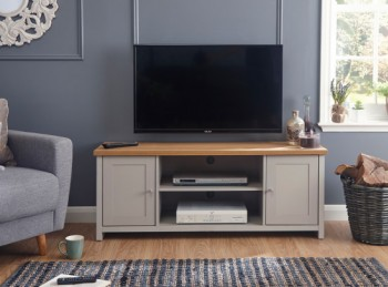 GFW Lancaster Large TV Cabinet in Grey