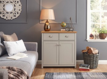 GFW Lancaster Compact Sideboard in Grey