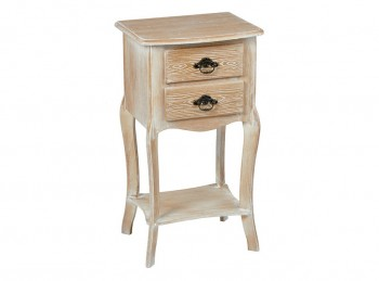LPD Provence Weathered Oak Finish Side Table