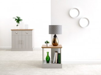 GFW Kendal Lamp Table Grey