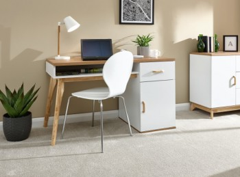 GFW Nordica Desk in Oak and White