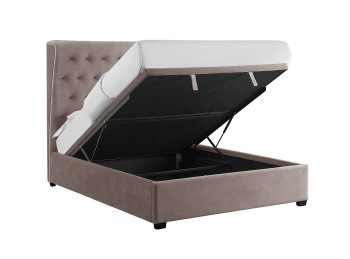 LPD Belgravia 4ft6 Double Cappuccino Fabric Ottoman Bed Frame