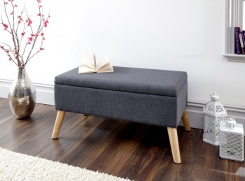 GFW Alexandra Storage Ottoman Large in Charcoal