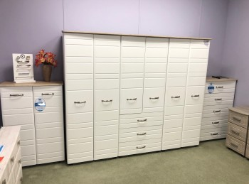 STORE CLEARANCE Klever Furniture Venus Range 3 Piece Set In White And Sonoma Oak