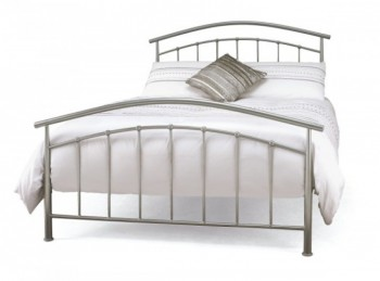 Serene Mercury 4ft6 Double Silver Metal Bed Frame