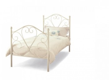 Serene Isabelle 3ft Single White Metal Bed Frame