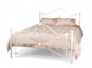 Serene Lyon 5ft Kingsize Ivory Metal Bed Frame