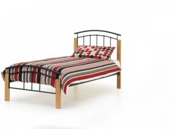 Serene Tetras 3ft Single Black Metal Bed Frame
