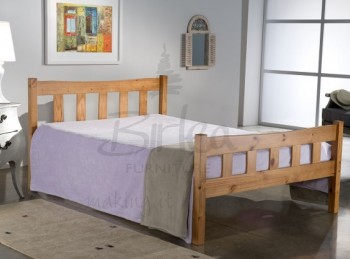 Birlea Miami 4ft Small Double Pine Wooden Bed Frame