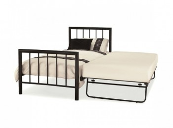 Serene Modena 3ft Single Black Metal Guest Bed Frame