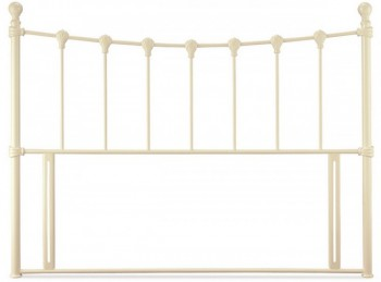 Serene Marseilles 5ft Kingsize Ivory Gloss Metal Headboard