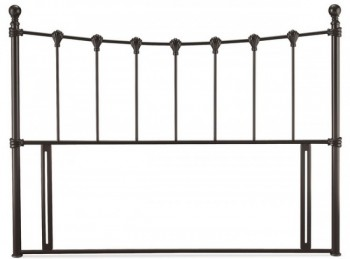 Serene Marseilles 4ft6 Double Black Metal Headboard