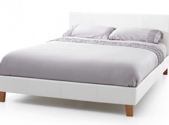 Serene Tivoli 6ft Super Kingsize White Faux Leather Bed Frame