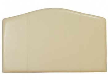 Serene Rosa 4ft Small Double Cream Faux Leather Headboard