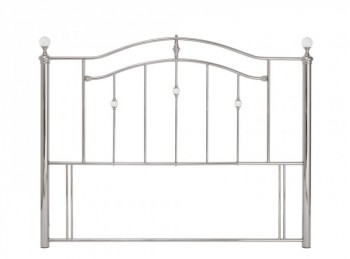 Serene Ashley 4ft6 Double Nickel Metal Headboard with Crystals
