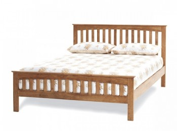 Serene Amelia 4ft6 Double Oak Finish Wooden Bed Frame