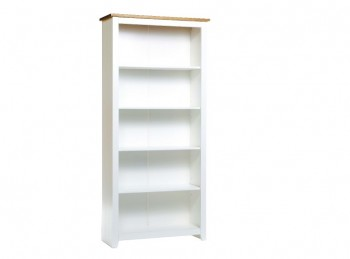 Core Capri White Tall Bookcase