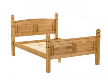 Core Corona 5ft Kingsize Pine Wooden Bed