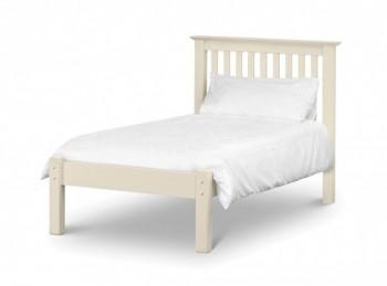 Julian Bowen Papplewick 3ft Single Stone White Metal Bed