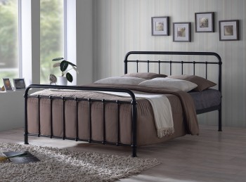 Time Living Miami 4ft6 Double Black Metal Bed Frame