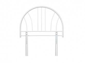 Serene Annabelle 3ft White Metal Headboard