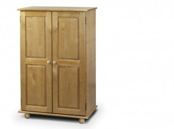 Julian Bowen Pickwick Pine Wooden 2 Door SHORT Wardrobe