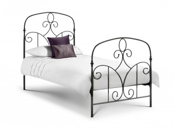 Julian Bowen Corsica 3ft Single Black Metal Bed Frame