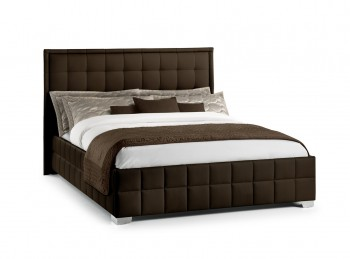 Julian Bowen Knightsbridge 5ft Kingsize Brown Faux Leather Bed Frame