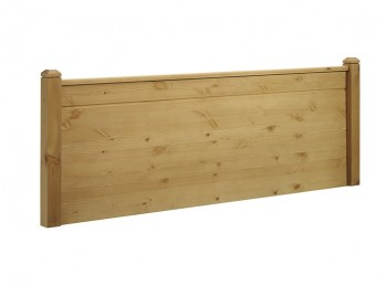 New Design Duke 4ft6 Double Rustic Oak Finish Wooden Headboard
