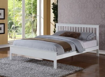 Flintshire Pentre 4ft6 Double White Wooden Bed