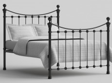 OBC Selkirk 6ft super Kingsize Solo Satin Black Metal Bed Frame