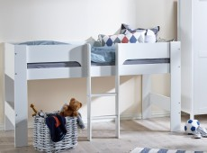 7730fdc7d39b Flexa Modern Childrens Mid Sleeper Bed. by Thuka