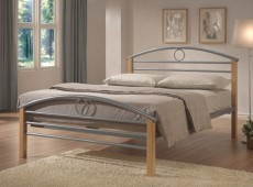 Limelight Pegasus 4ft Small Double Silver Metal Bed Frame