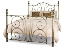 Serene Jessica 4ft6 Double Brass Metal Bed Frame