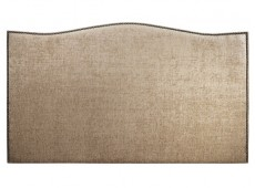 Serene Charlotte 4ft Small Double Fudge Fabric Headboard