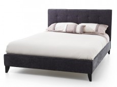 Serene Chelsea 4ft Small Double Charcoal Fabric Bed Frame