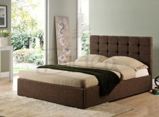Birlea Isabella 4ft6 Double Brown Upholstered Fabric Bed Frame