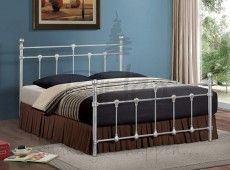 Birlea Atlas 4ft Small Double Silver Metal Bed Frame