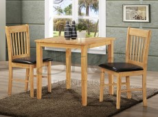 Birlea Kendall Oak Finished Dining Table Set with Two Chairs