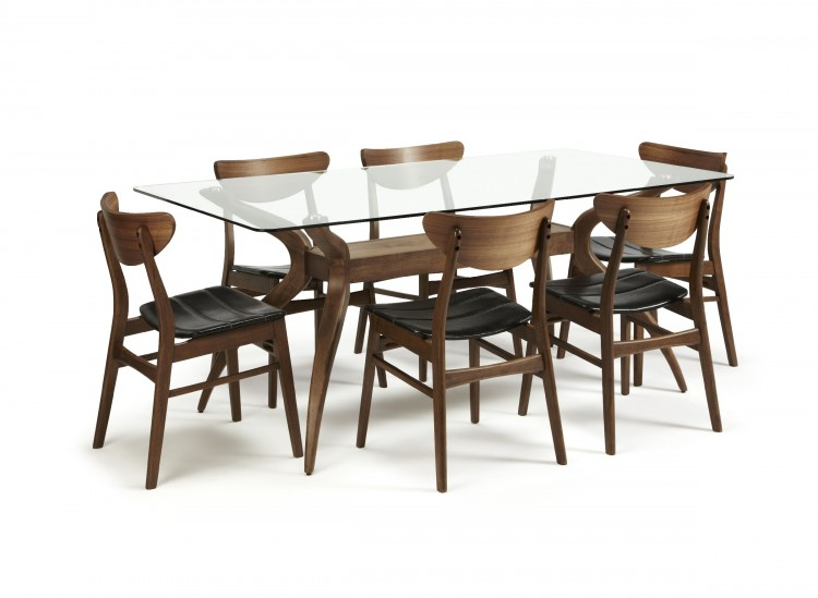 Cucina Walnut Dining Table And 6 Chairs Review Compare  : 10111 serene islington glass and walnut dining set with 6 camden chairs from amlibgroup.com size 750 x 549 jpeg 56kB