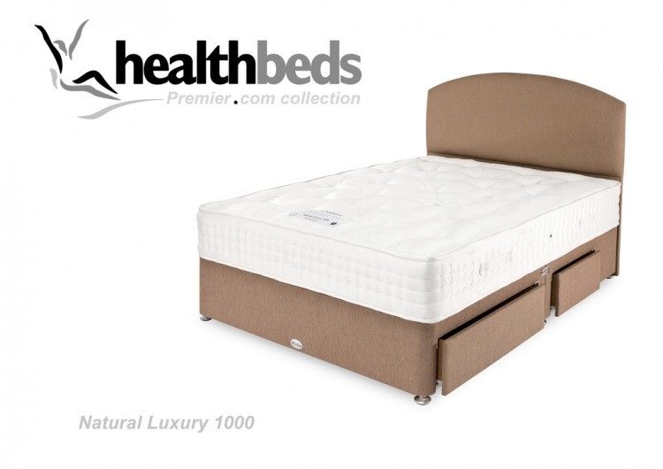 Healthbeds Natural Luxury 1000 Pocket 2ft6 Small Single Divan Bed By Healthbeds