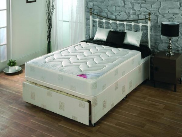 Repose milan 2ft6 small single divan bed by repose for New single divan beds