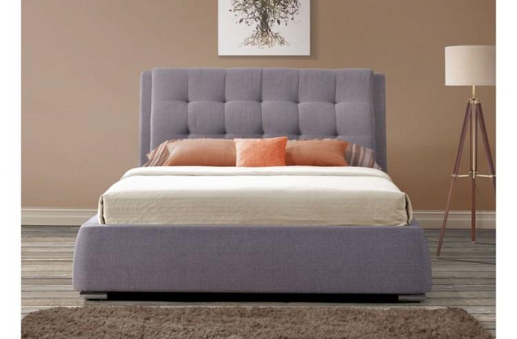Birlea Mayfair 5ft Kingsize Grey Fabric Bed Frame With 4