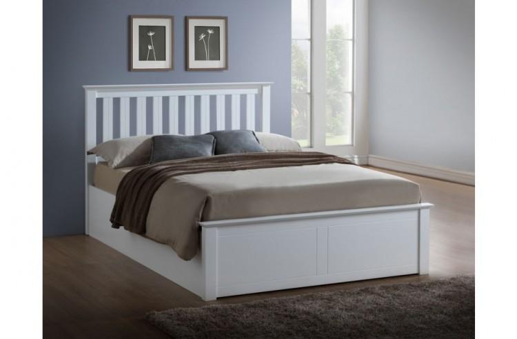 Birlea Phoenix 4ft Small Double White Ottoman Lift Wooden Bed Frame