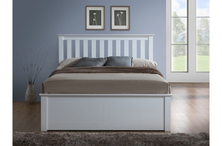 Birlea Phoenix 4ft Small Double White Ottoman Lift Wooden Bed Frame Birlea  ...